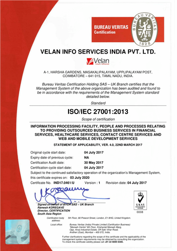 ISO_27001 Bureau Veritas Certification