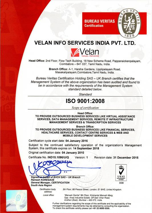 ISO_9001 Bureau Veritas Certification